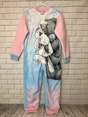 Girls Me To You Tatty Teddy All In One 1Onsie Sleepsuite Age 5-6 Years Snuggle