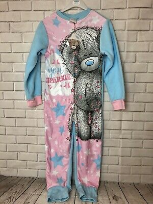 Girls Me To You Tatty Teddy All In One 1Onsie Sleepsuite Age 5-6 Years Sparkle