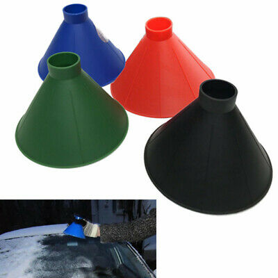 Magical Car Windshield Ice Snow Remover DIY Scraper Tool Shaped Funnel Cone UK