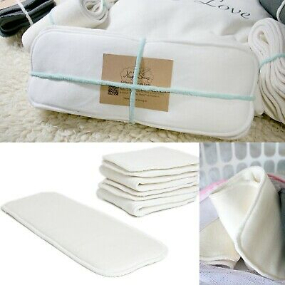 5 Layers Bamboo Cotton Insert Booster Cloth Nappy MCN Use 5pcs/set ECO Friendly