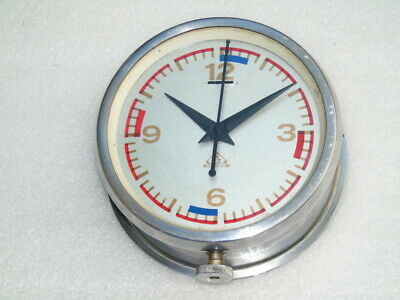 Vintage Wsz Krakow Poland Ships Boat Marine Bottom Winding Mechanical Clock