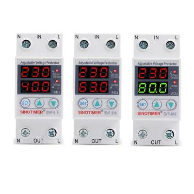 SVP916 Adjustable Voltage Surge Protector Relay 220V 40/63/80A Dual Display Home