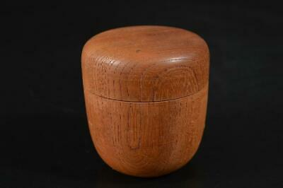 A2428: Japanese Wooden TEA CADDY Natsume Chaire Container Tea Ceremony