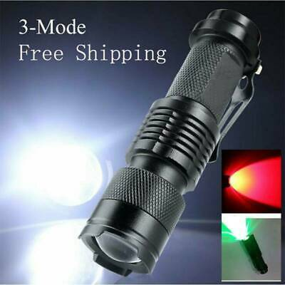 LED Red Beam Light Zoomable Torch Astronomy Night Vision Camping Hunting