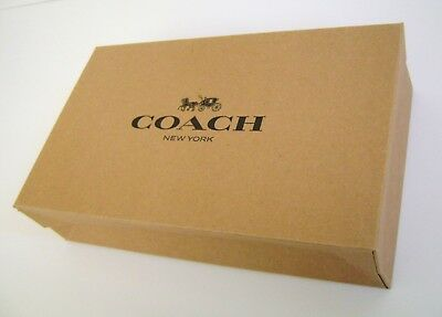 """NEW Coach Small Brown Shopping Wallet Gift Box 10""""X 6"""" X 2.5"""" in Bubble Mailer"""