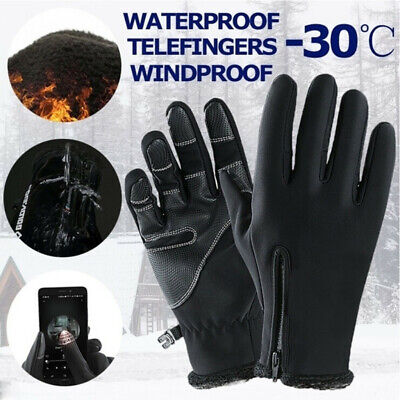 -30℃ Ski Women Gloves Zipper Winter Thermal Touch Screen Warm Waterproof Skiing