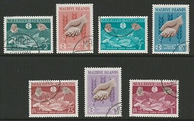 Maldive Islands 1963 Freedom From Hunger set SG 118-124 Fine used.