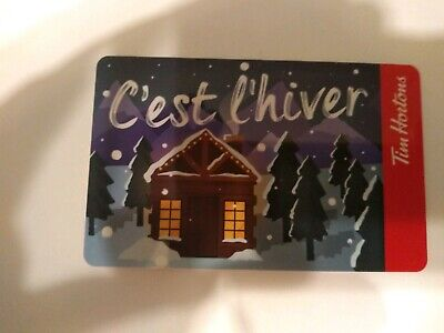 Collectable Tim Hortons C'est L'hiver Gift Card #Fd68276..No Monatary Value