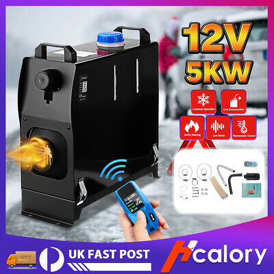 Hcalory All In One 5KW 12V Diesel Air Heater With Upgrade Remote For Truck Boat