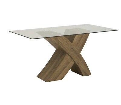 Capri Round Gl Top Dining Table With Gold Finished Legs