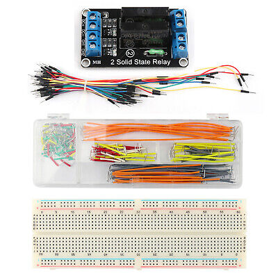 5V 2 Channel SSR Solid State Relay Module + 830 P Breadboard + Jump Wire