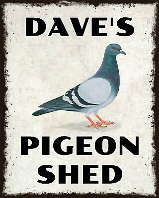Personalised Pigeon Loft Name Plaque With Any Name Silver