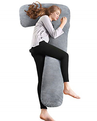 AngQi Full Body Pregnancy Pillow, Maternity Pillow for Pregnant Women and Side L