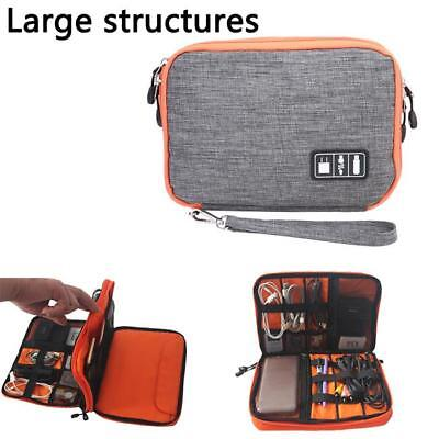 Electronic Accessories Cable Organizer Travel USB Charger Storage Case Pouch FA