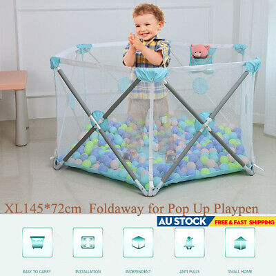 Foldaway 6 Panel Baby Play Pens Travel Child Interactive Playpen Safe Adjustable
