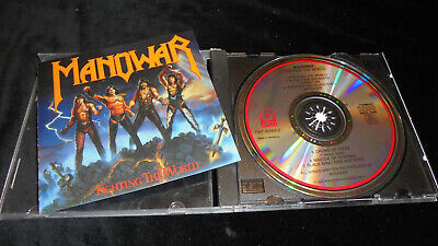 Manowar – Fighting The World ATCO Germany early repress vg+/ex CD metal