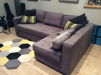 AN L SHAPED Sofa Bed With Built In Storage - £75.00 ...