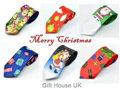 Christmas Ties Wide  Fun Novelty Festive Neck Xmas Dinner Party Accessories Gift