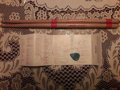 Freddie Mercury Queen hand signed autograph drumsticks plectrum concert queen