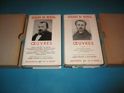 Lot 2 Volumes La Pleiade, Oeuvres, Gerard De Nerval, Complet, 1960 - 56 Be / Tbe