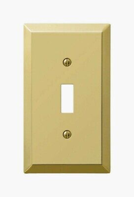 Amerelle Century Polished Brass TOGGLE WALL PLATE 1 Gang Stamped Steel 163TBR