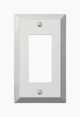 Amerelle Century POLISHED CHROME Rocker WALL PLATE 1 Gang Stamped Steel 161R