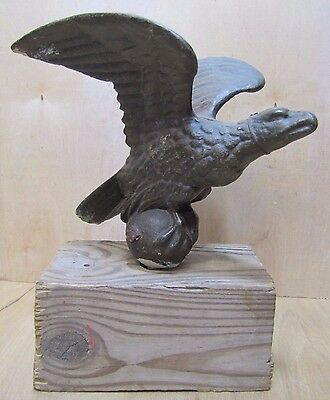 Antique Cast Bronze Brass Eagle Decorative Art Statue Old Architectural Hardware