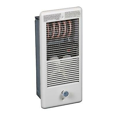 TPI 1500W 120V 4300 Series Low Profile Fan Forced Wall Heater - 1 Pole Thermosta