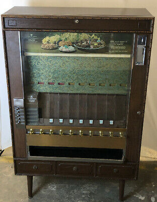VINTAGE COIN OPERATED Cigarette Machine Antique Op Vending ...