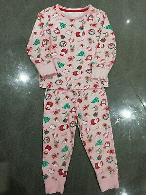 Mothercare Girls Christmas Pyjamas, Pink, Age 2-3 yrs