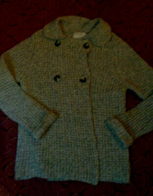 Zara Girls grey 60% cotton knitted style Jacket age 13-14 Years