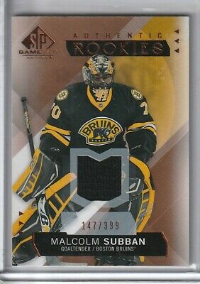Malcolm Subban 2016-17 Upper Deck SP Game-Used Jersey Rookie 147/399 Boston Brui