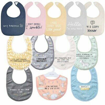 """Splosh - """"Quotes"""" Fun Novelty Gift Kids Toddler Baby Bibs **FREE DELIVERY**"""