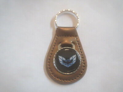 PONTIAC FIREBIRD FORMULA TRANS-AM BLACK WHITE WINGS LOGO KEYCHAIN KEYRING GOLD