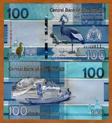 P-New Gambia 2019 A-Prefix ND redesigned 200 Dalasis UNC /> Bird