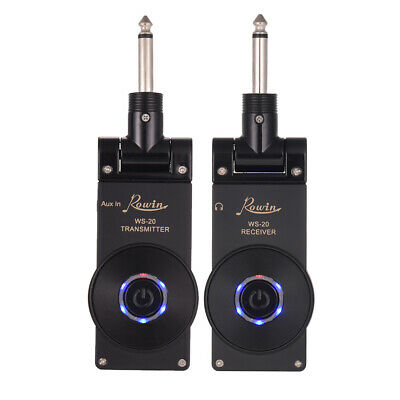 Rowin WS-20 2.4G Wireless Rechargeable Electric Guitar Transmitter Receiver I5B1