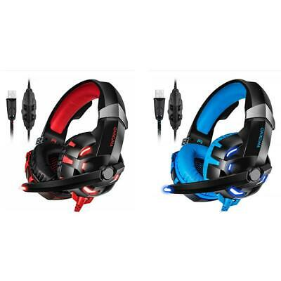 ONIKUMA K2A Wired Gaming Headset Stereo Headphones with Mic LED for PC PS4 R1BO