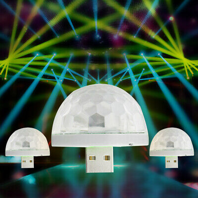 5V USB LED Ball Lamp Effect Remote Sound Activated Strobe DJ Party Light Gift