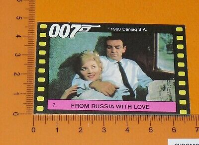 N°7 James Bond 007 From Russia With Love Connery Bianchi Monty Gum Card 1985