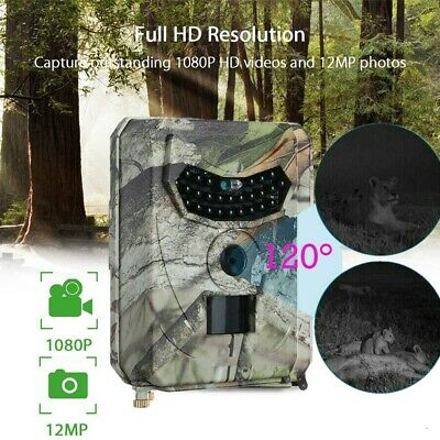 12MP 1080 HD Hunting Trail Camera Video Wildlife Scouting IR Night Vision Cam US