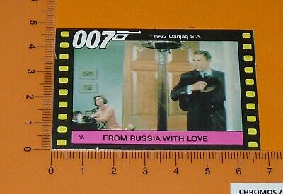 N°9 James Bond 007 From Russia With Love Connery Maxwell Monty Gum Card 1985