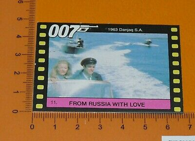 N°11 James Bond 007 From Russia With Love Connery Bianchi Monty Gum Card 1985