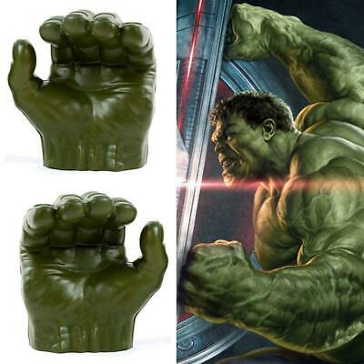Marvel Avengers Incredible Hulk Gamma Grip Fists Smash Green Hands Figure Gloves