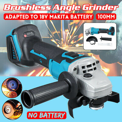 18V Cordless Angle Grinder Brushless Cut Off Power Tool Grinding Polishing 100mm