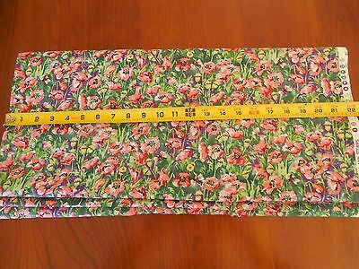 """58/"""" Wide Fall Theme on Tan Quilting Cotton M7378 By 1//2 Yd"""