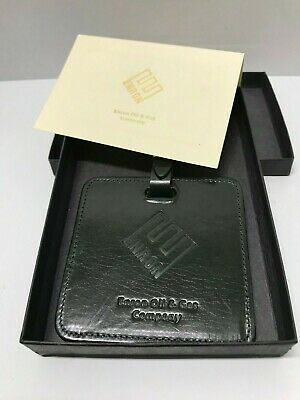 ENRON OIL GAS Company Leather Luggage Brief Case Tag Desk Spin A Klip Holder NEW