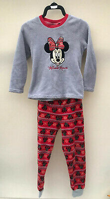Girls Minnie Mouse Fleece Pyjamas Age 7-8