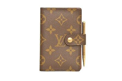 Louis Vuitton Monogram Agenda Mini Diary Cover Organizer With Pen - F00869