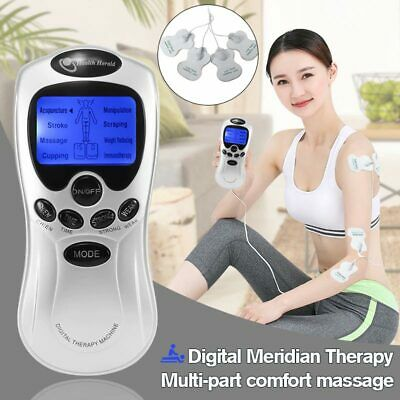 8 Pain Relief Acupuncture Tens Machine Digital Therapy Full Body Back Massager