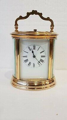 Large Oval Case Ormolu Repeat Strike 4 Glass Carriage Clock